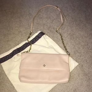 Tory Burch Dust Pink Convertible Crossover Purse